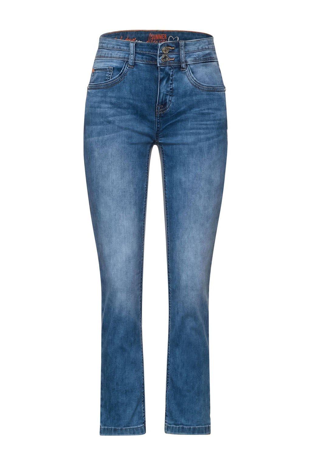 Street One cropped straight fit jeans fresh blue acid wash, Fresh blue acid wash