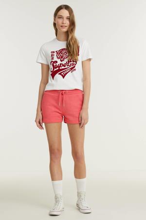 high waist sweatshort Classic Jersey Short met logo roze