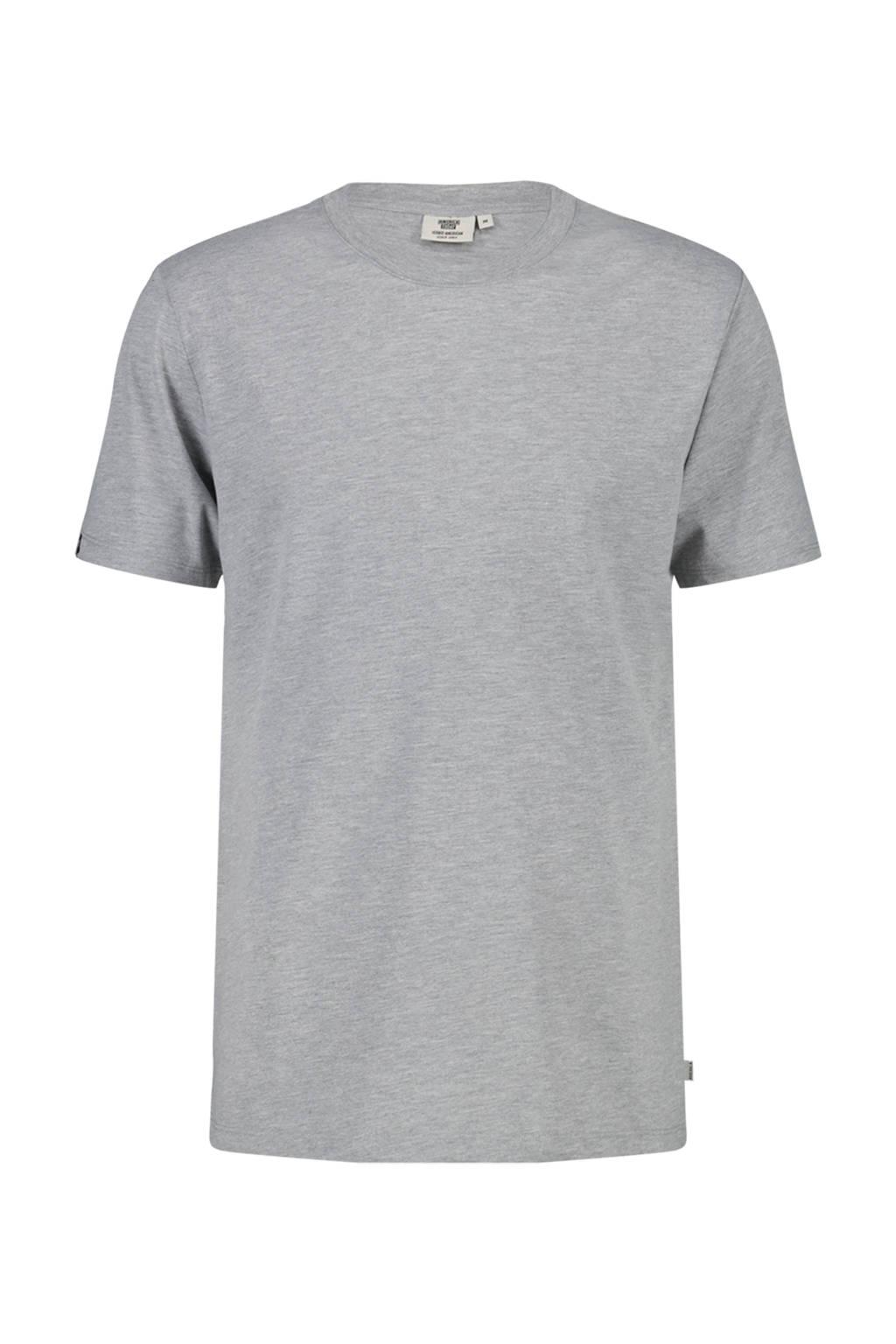 America Today T-shirt Eric van biologisch katoen grey melange