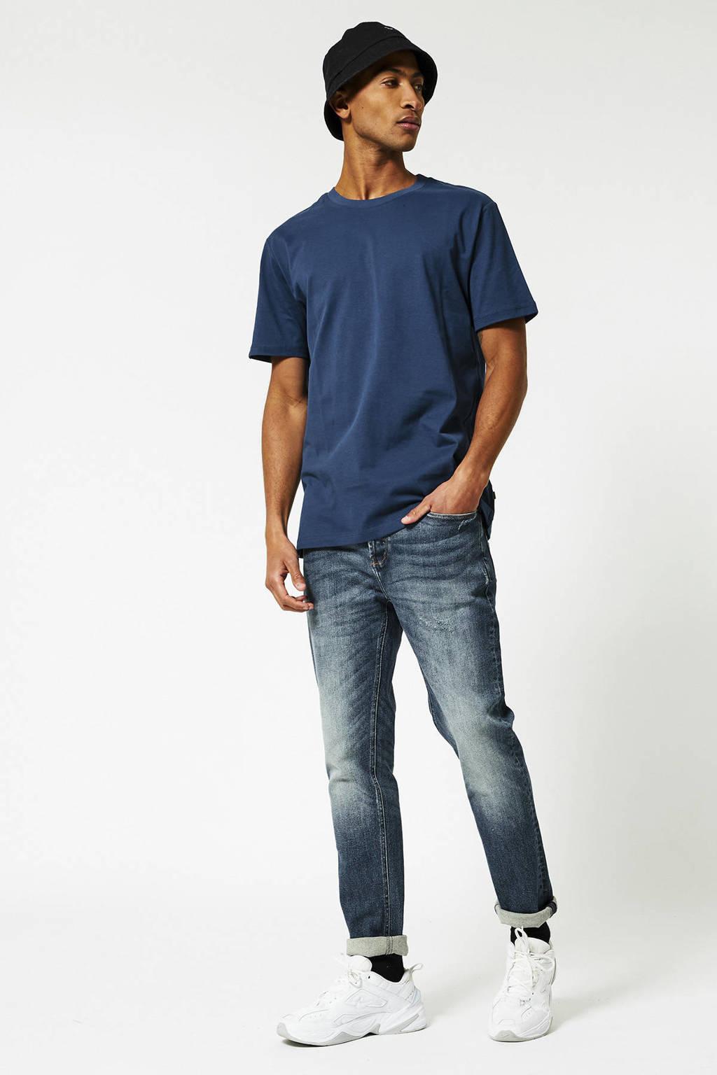 America Today T-shirt Eric van biologisch katoen blauw, Blauw