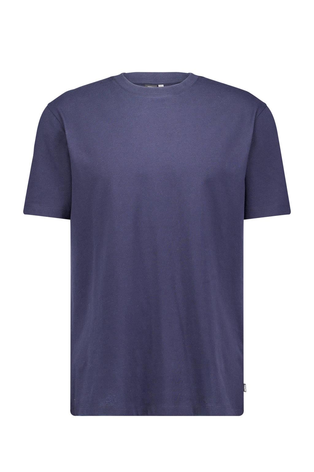 America Today T-shirt Eric van biologisch katoen donkerblauw, Donkerblauw