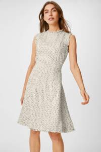 C&A Yessica Tailored gemêleerde A-lijn jurk ecru, Ecru