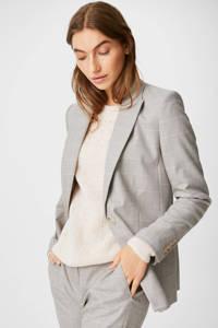 C&A Yessica Tailored geruite blazer beige/ecru, Beige/ecru