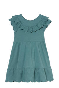 C&A Happy girls Club maxi jurk van biologisch katoen groen, Groen