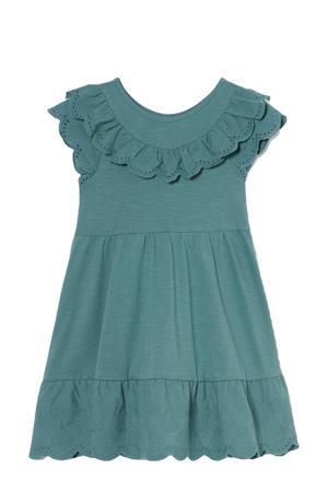 maxi jurk van biologisch katoen groen