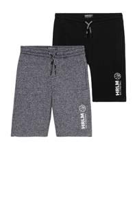 C&A sweatshort - set van 2 met printopdruk zwart/grijs, Zwart/grijs