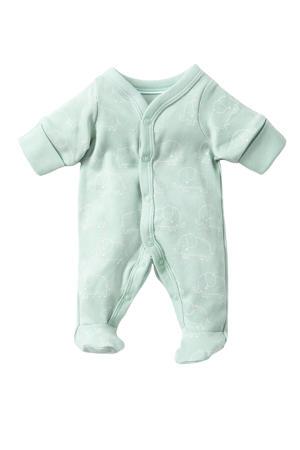 newborn baby boxpak van biologisch katoen groen