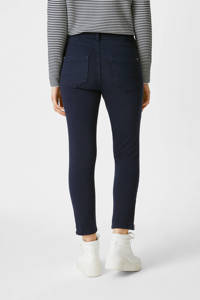C&A Yessica cropped slim fit broek donkerblauw, Donkerblauw