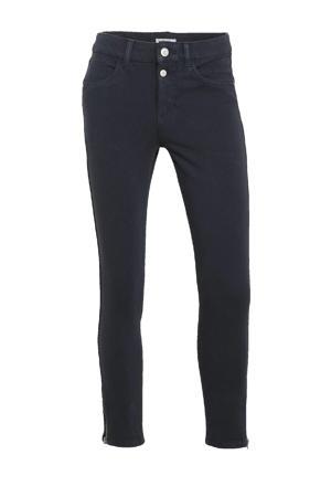 cropped slim fit broek donkerblauw