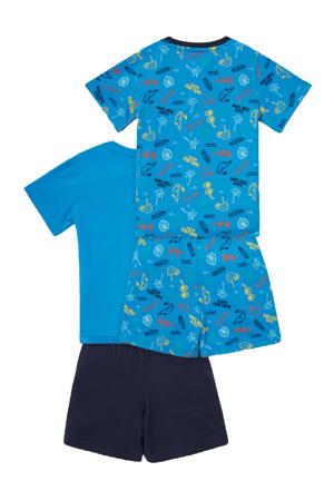shortama - set van 2 blauw/donkerblauw