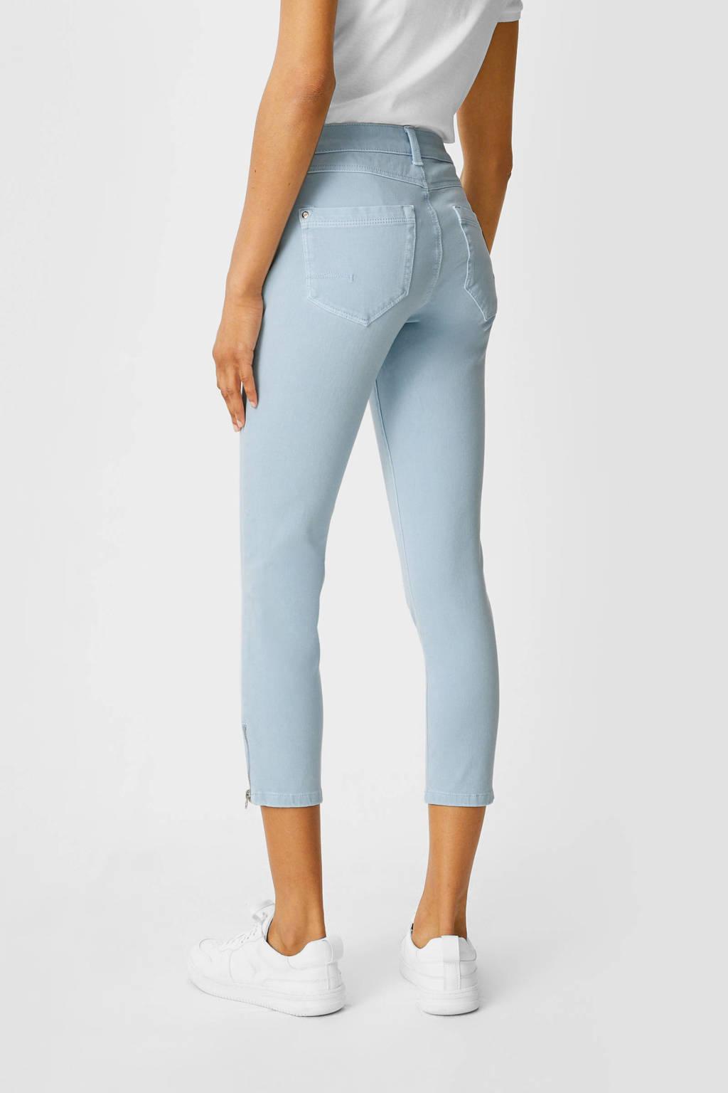 C&A Yessica cropped slim fit broek lichtblauw, Lichtblauw
