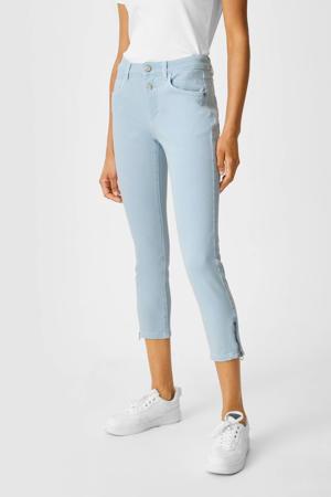 cropped slim fit broek lichtblauw