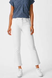 C&A Yessica cropped straight fit jeans wit, Wit