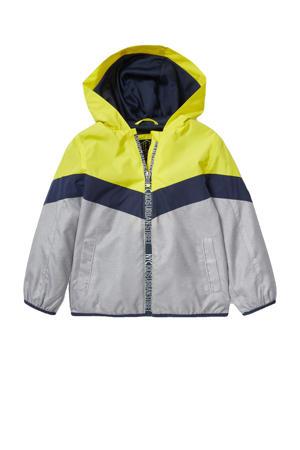 zomerjas geel/donkerblauw/lichtgrijs