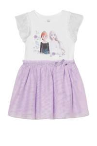 C&A Frozen Frozen Sister Forever jurk met printopdruk en glitters wit/lila, Wit/lila