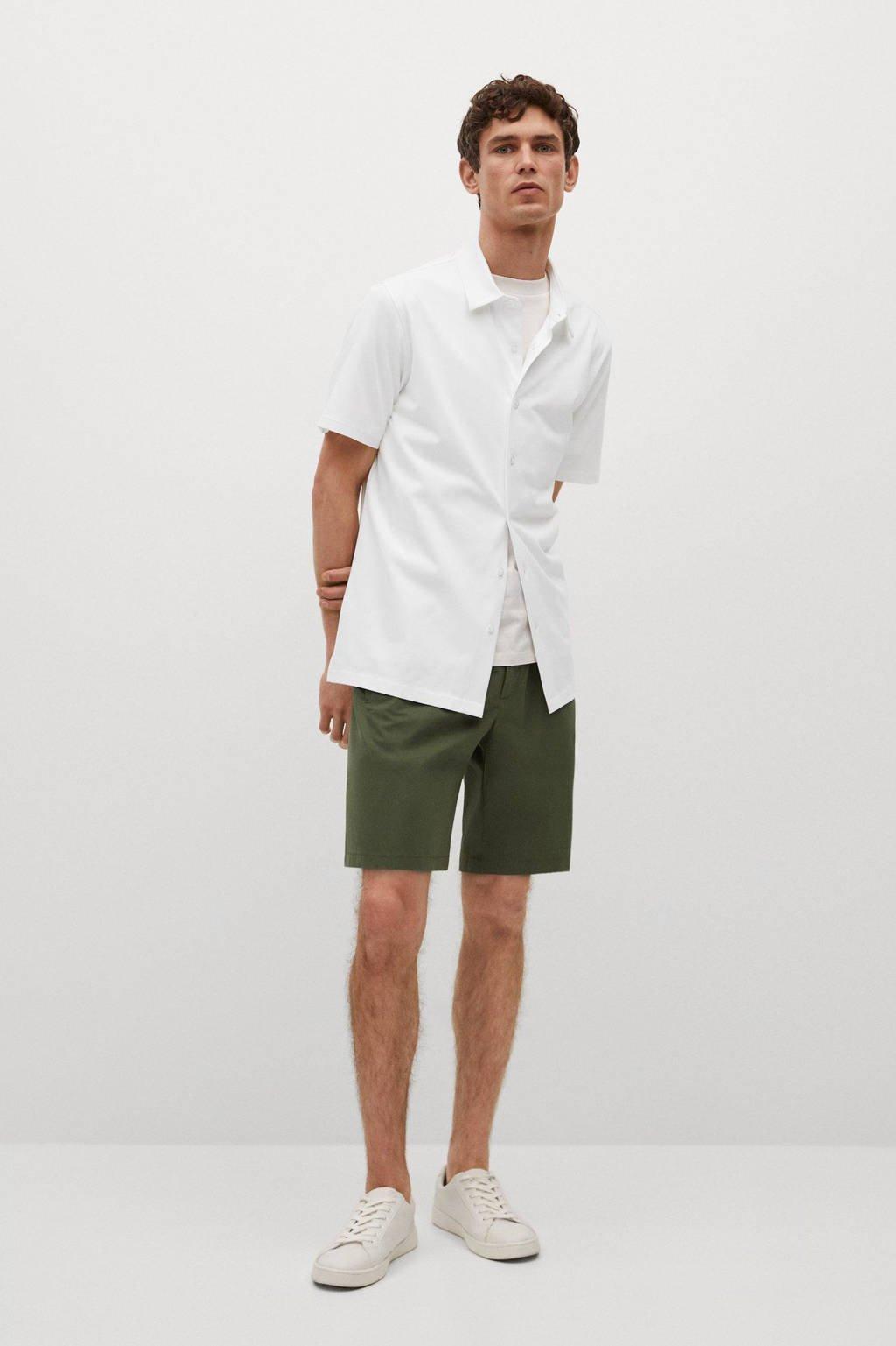 Mango Man regular fit overhemd wit, naturel wit