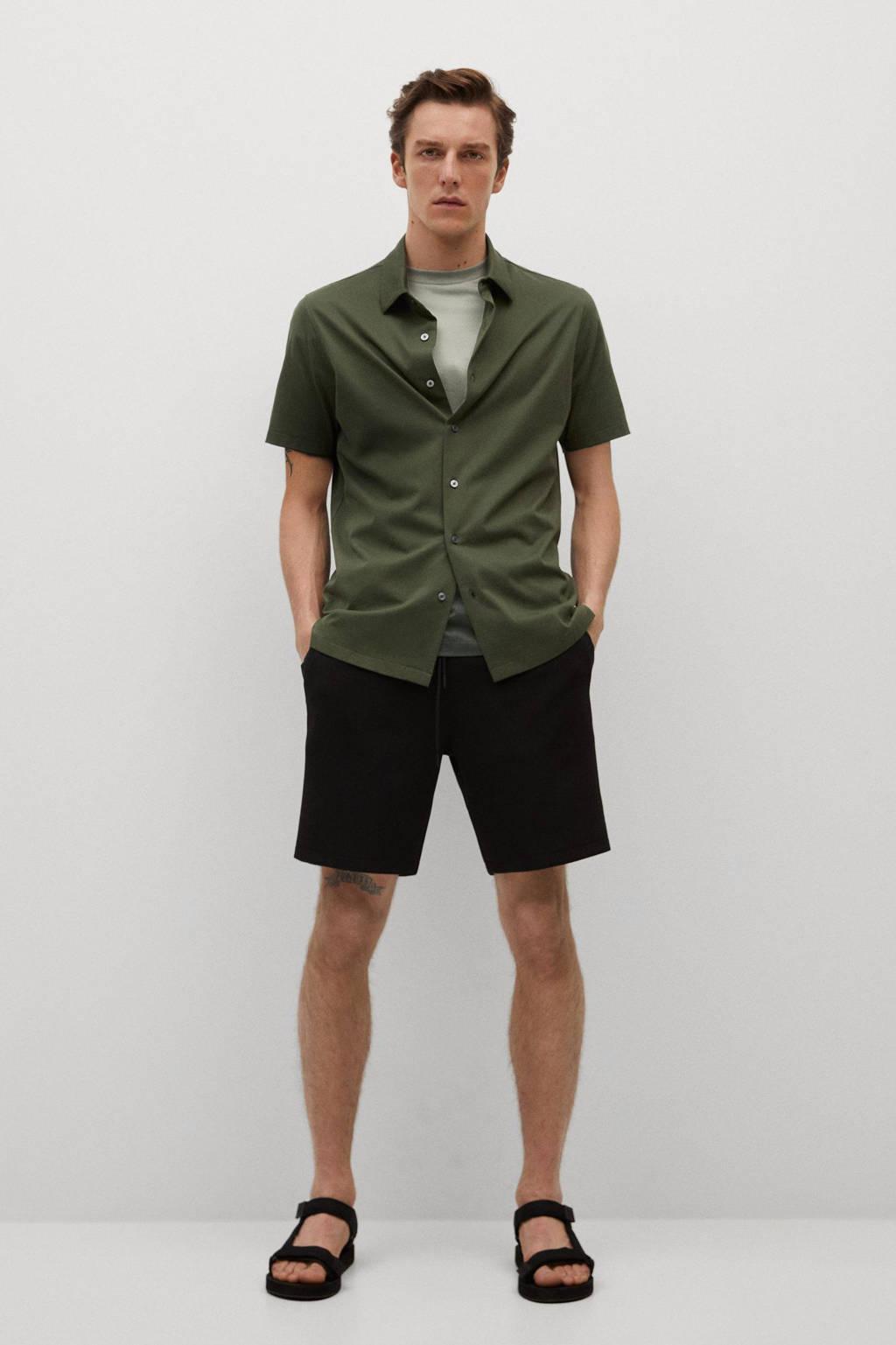 Mango Man regular fit overhemd groen, Groen