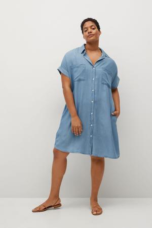spijker blousejurk blauw