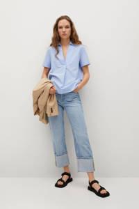 Mango blousetop lichtblauw, Lichtblauw