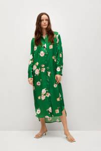 Mango blousejurk met all over print groen, Groen