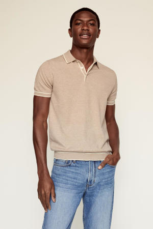 regular fit polo lichtbeige