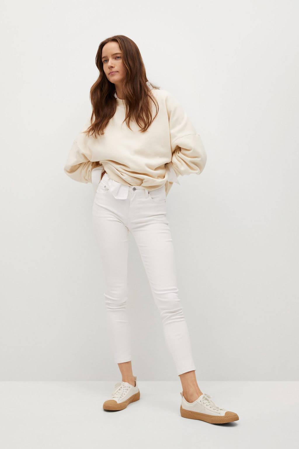 Mango cropped skinny jeans wit, Wit