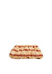 Mango  clutch met tie-dye print beige/brique, Beige/brique