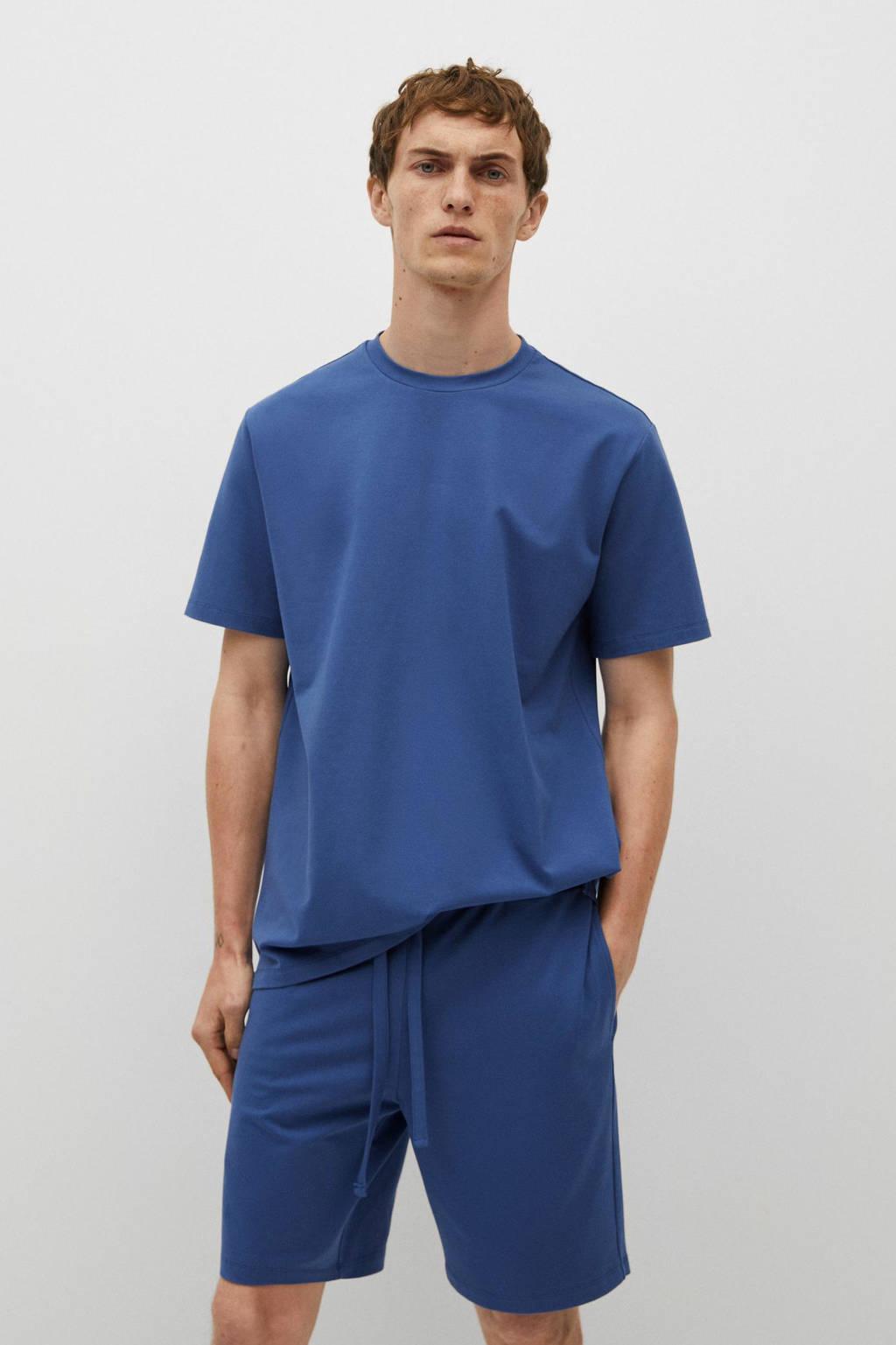 Mango Man pyjamashort blauw, Blauw