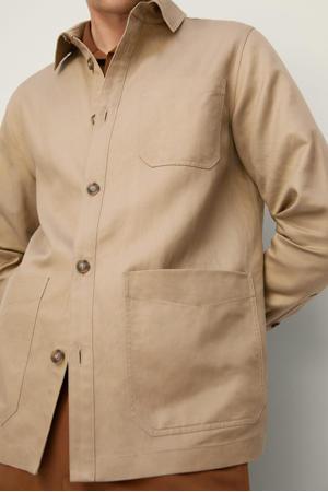regular fit overhemd lichtbeige