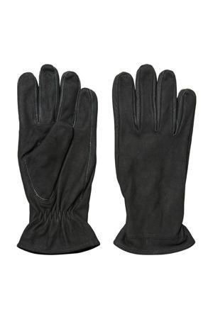leren handschoenen SLHRICHARD zwart
