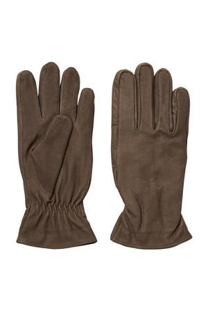 leren handschoenen SLHRICHARD bruin