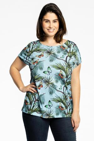 T-shirt PAPILLON met vlinderprint blauw