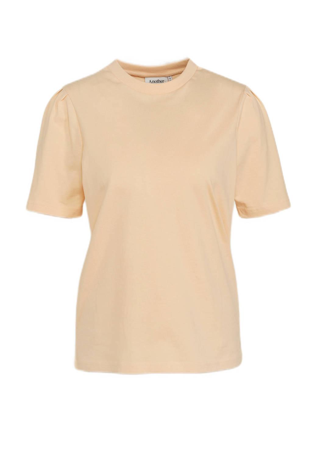 Another-Label T-shirt van biologisch katoen lichtgeel, Lichtgeel