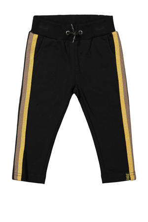 broek met zijstreep zwart/geel