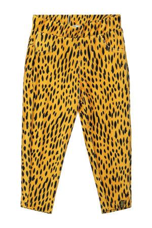 broek met all over print geel/zwart