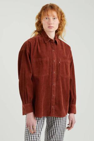 corduroy blouse ELLIOT UTILITY SHIRT bordeaux