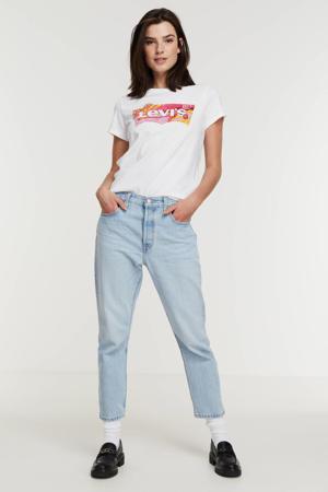 T-shirt Perfect Tee Batwing met logo wit