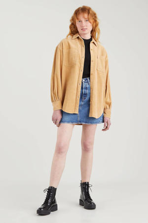 geruite blouse REMI UTILITY SHIRT okergeel