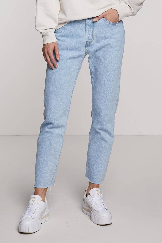 Levi's 501 cropped high waist straight fit jeans samba goal, SAMBA GOAL