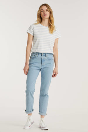 501 cropped high waist straight fit jeans samba goal
