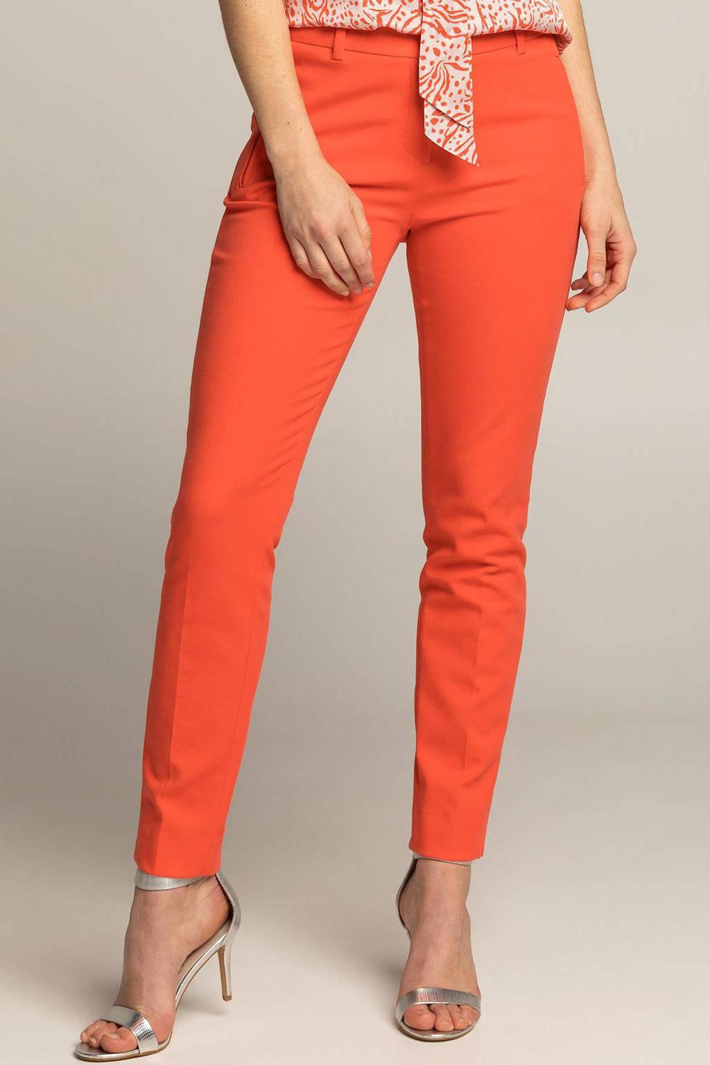 Expresso slim fit pantalon DFREYA koraalrood, Koraalrood