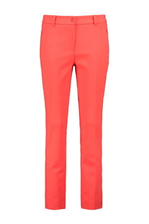 slim fit pantalon DFREYA koraalrood