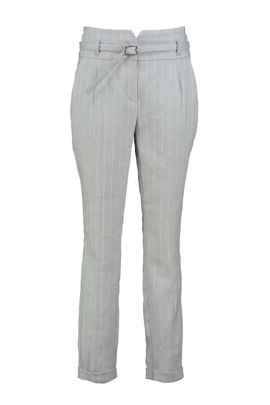 Expresso slim fit pantalon DIEUWERTJ met krijtstreep grijs, Grijs
