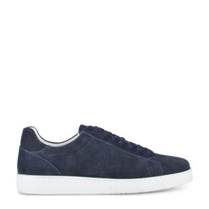Bari  suède sneakers donkerblauw