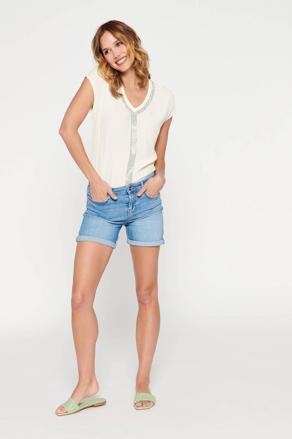 LOLALIZA skinny jeans short lichtblauw, Lichtblauw