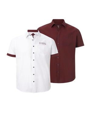 overhemd EVIN (set van 2) rood/wit