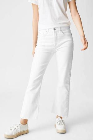 high waist flared jeans wit
