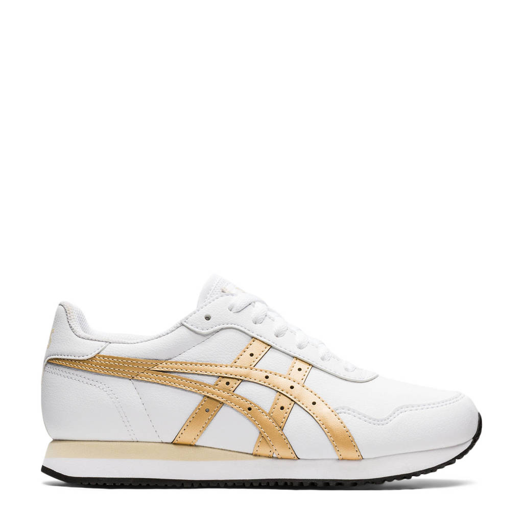ASICS Tiger Runner  sneakers wit/goudkleurig, Wit/goudkleurig