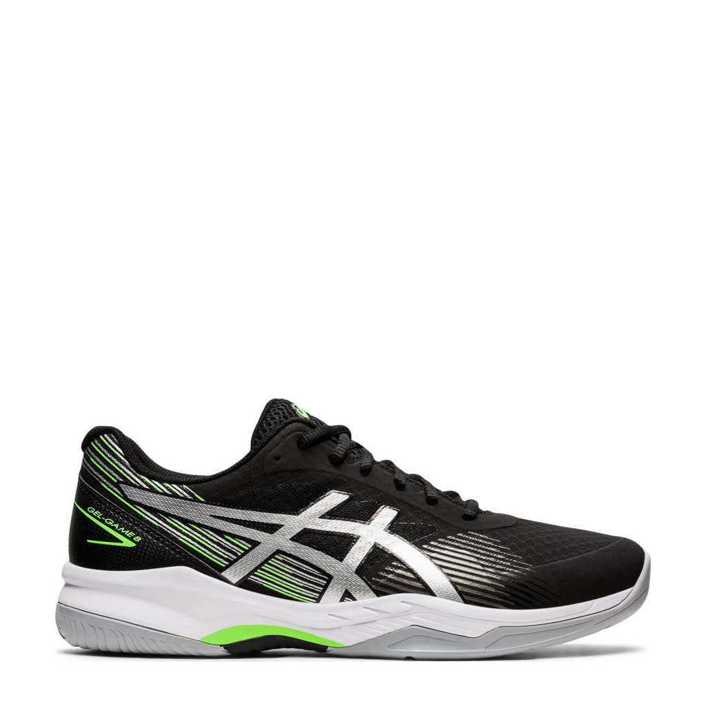 ASICS Gel-Game 8 tennisschoenen zwart/zilver, Zwart/zilver