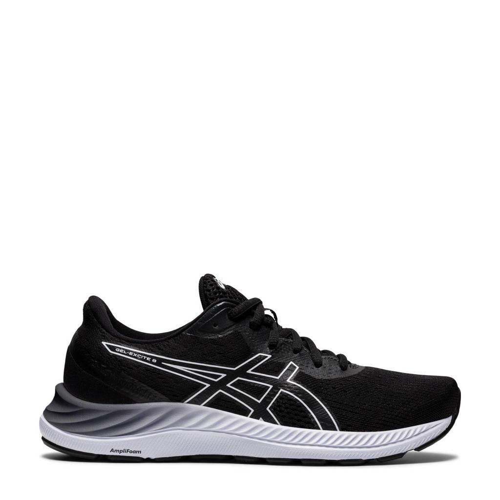 ASICS Gel-Excite 8 hardloopschoenen zwart/wit, Zwart/wit